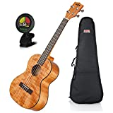 Kala KA-TEM Tenor Exotic Mahogany Ukulele w/ Padded Gig Bag and Tuner