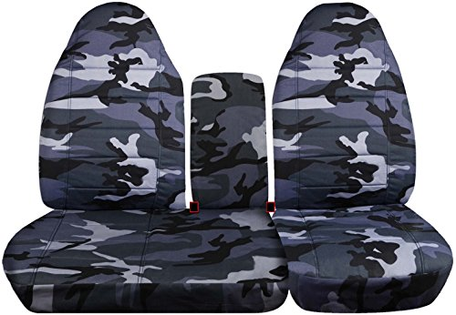 - Totally Covers Fits 1997-2000 Ford F-150 Camo Truck Seat Covers (Front 40/60 Split Bench) with Opening Center Console/Solid Armrest: Gray Camouflage (16 Prints) 1998 1999 F-Series F150