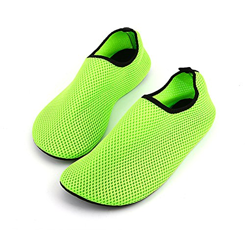 RUNGAO Net Shoes Light Soft Women Beach Shoes Outdoor Swimming Water Shoes Unisex Soft Seaside Wading Shoes Orange & 38-39 Green & 38-39 PPlDEO