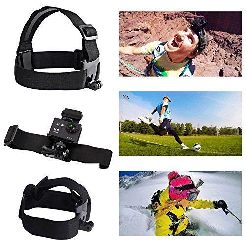 AKASO 7 en 1 Accesorios de cámara de acción para deportes al aire libre Kit de montaje para Gopro Hero AKASO EK7000 Brave 4 CAMPARK DBPOWER Go Pro Hero 5 en natación Cualquier otro deporte al aire libre