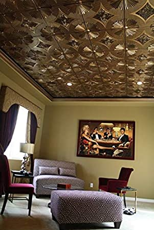 From Plain To Beautiful In Hours 201ac-24x24 Ceiling Tile Antique Copper