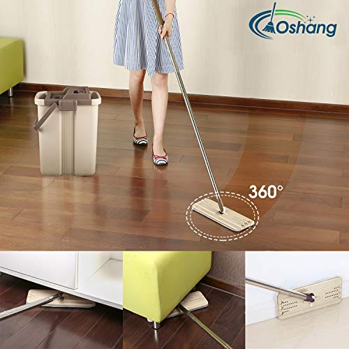 Best Floor Mopping System Oshang Flat Squeeze Mop And