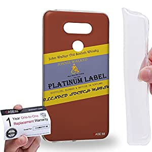 Case88 [LG G5] Gel TPU Carcasa/Funda & Tarjeta de garantía - Art Fashion Design Whisky Platinum Never Drive After Drinking Johnnie Walked Art4038
