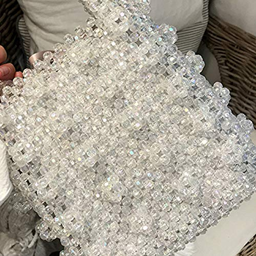 Top Bags Bag VT Purse Handmade BigHome Evening Handbag Bag Vintage White Pearl Beaded Handle Female FPFH1xqw