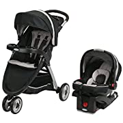 Graco Fastaction Fold Sport Click Connect Travel System, Pierce