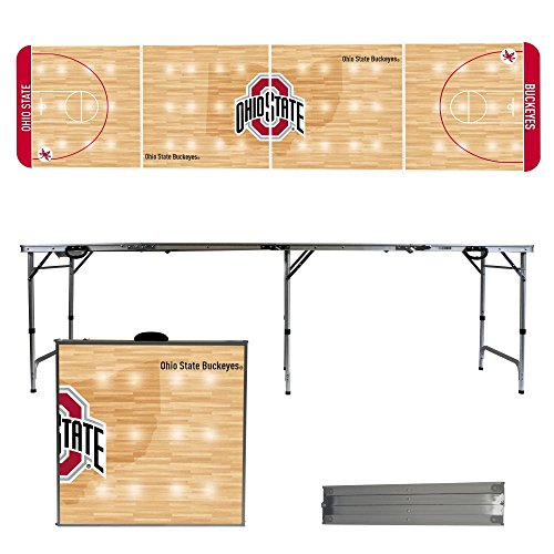 NCAA Ohio State University Buckeyes OSU basketball Court Version 8 Foot Folding Tailgate Table,1234,Multicolored by Victory Tailgate
