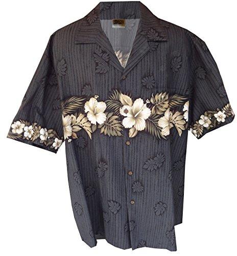New Xxl Aloha Hawaiian Shirt (Hawaiian Shirt Hawaii New Hibiscus Aloha Shirtin Black (XXL))
