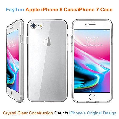 Custodia per iPhone 8iPhone 7, faytun Custodia per iPhone 7iPhone 8Crystal Clear trasparente ultra sottile Silicone Custodia TPU Case per iPhone 7/iPhone 8(4.7pollici, trasparente)