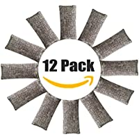 12 Pack Natural Air Purifying Bags ,Odor Remover, Shoe Deodorizer and Odor Eliminator 100% Natural Non-Toxic