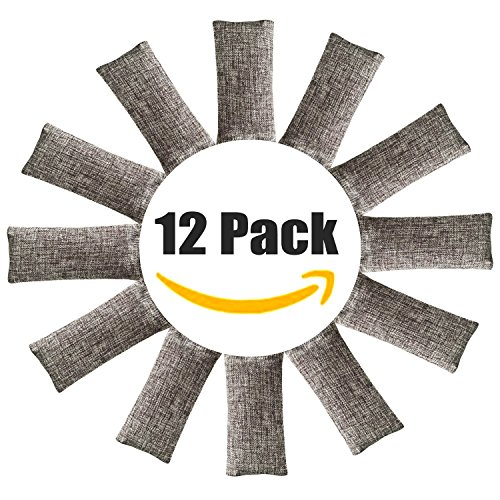 Glorious Natural - 12 Pack Natural Air Purifying Bags ,Odor Remover, Shoe Deodorizer and Odor Eliminator 100% Natural Non-Toxic