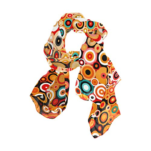 Abstract Scarf (U LIFE Abstract Geometric Circle Artwork Silk Scarf Scarves for Women)