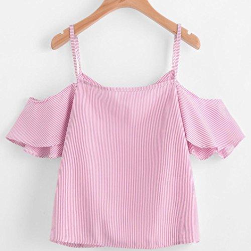 Rosa Donne Manica A Tefamore Camicia Lunga Cvwg88q