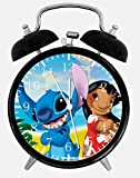 Lilo & Stitch Alarm Desk Clock 3.75'' Home or Office Decor E155 Nice For Gift