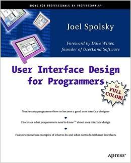 User Interface Design for Programmers: Amazon.co.uk: Joel Spolsky ...