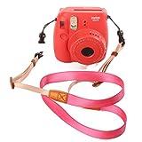 [Fujifilm Universal Camera Strap] — WOODMIN Adjustable Shoulder Belt for Fujifilm Instax Mini Camera, Polaroid Camera, Digital Camera, Nikon Camera, Cannon Camera, Samsung Camera(Rose)