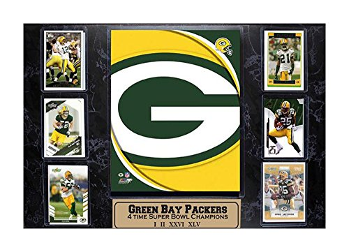 Encore Select 531-12 NFL Green Bay Packers 6-Card Plaque, 13-Inch by 37-Inch