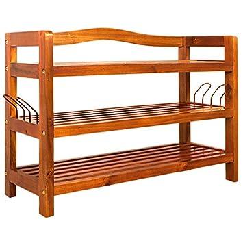 tagre chaussures en bois massif dacacia grande capacit de rangement meuble armoire stockage