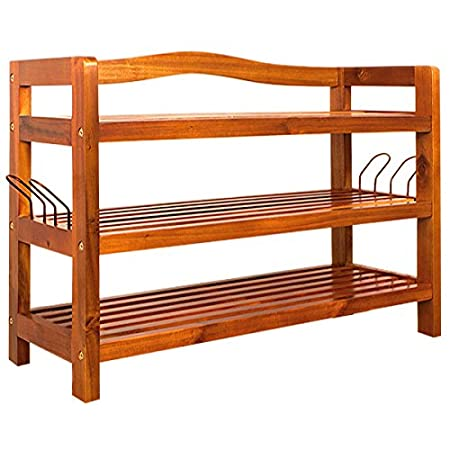High Quality Shoe Storage Rack Wooden Strong Acacia Cabinet Organiser Furniture Unit  Storing Shelf