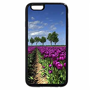iPhone 6S Plus Case, iPhone 6 Plus Case, field of tulips