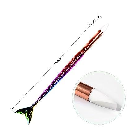 1 pincel de silicona para manicura y dibujo, para decoración de uñas