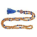 Fashion Japa Malabeads Lapiz Lazuli Rudraksha Necklace Mala