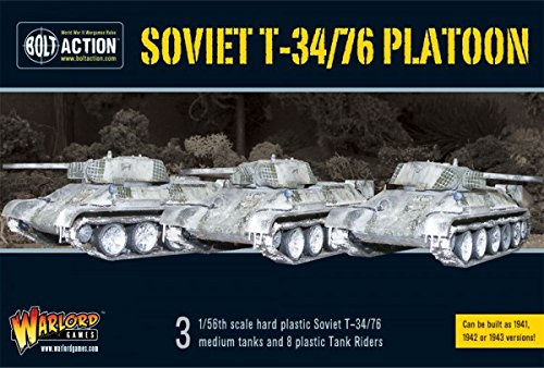 Bolt Action Starter Set - Soviet T34/76 Medium Tank Platoon (3) with Tank Riders PLASTIC