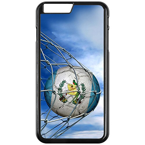 Case - iPhone 7 PLUS with Flag of Guatemala - Soccer Ball in Net - Durable Rigid Plastic (Soccer Balls Guatemala)
