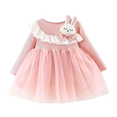 Toddler Baby Girls Infant Kids Rabbit Tutu Dresses Clothes Princess Casual Dress