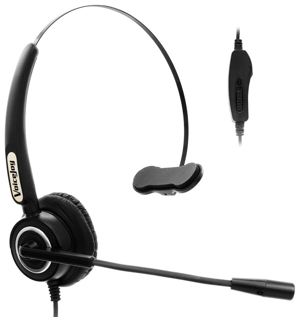 Volume and Mute Switch Headset Office Monaural Headset with Microphone RJ9 Plug for Cisco IP Phones 794X 796X 797X 69XX Series and 8811,8841,8851,8861,8941,8945,8961,9951,9971 etc