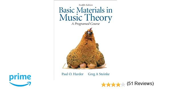 Basic Materials in Music Theory: A Programmed Approach (12th ...