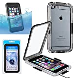 iPhone 6 Plus/6s Plus Case, Insten Waterproof Hard Plastic Snap-in Case Cover For Apple iPhone 6 Plus/6s Plus (5.5), Clear/Black