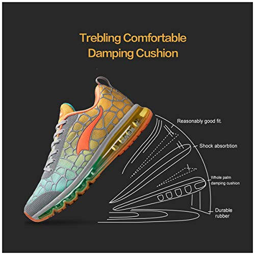 Baskets Multicolore Lacet Jogging Course Running Gym Homme Style Respirante Chaussures Sport Onemix Fitness Sneakers Air Gris Orange Uw7qBU5