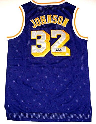Autographed Magic - Magic Johnson Autographed Jersey (Lakers) PSA/DNA!