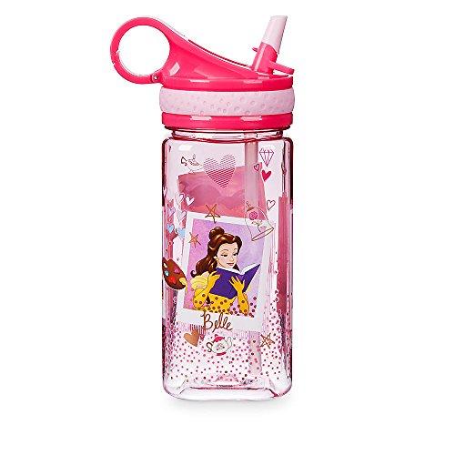 Disney Store Princess Plastic Snack Drink Flip Top Water Bottle New 2017