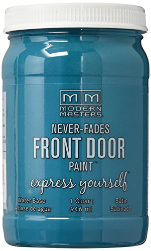 Modern Masters Series 296681 Qt Teal Satin Front Door Paint Tranquil