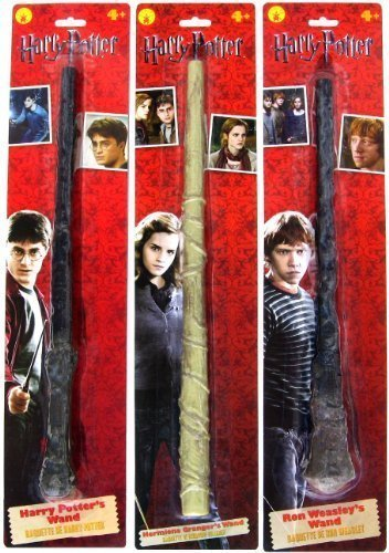 Bundle - 3 items: Harry Potter, Ron Weasley, and Hermione Granger Magic Wands ()