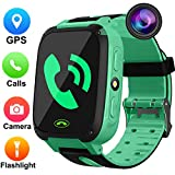 Kids Smartwatch with GPS Tracker,Game Smart Watch for Boys Girls Phone Watch Camera SOS Activity Tracker Anti Lost Alarm Clock App Parents Control with Android iPhone,Summer Birthday Prime Deals Gift