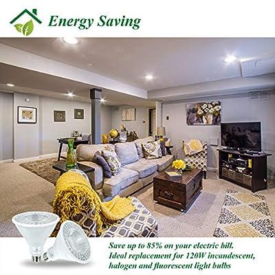 LED Bulb, 6 Pack,Enshine Lighting,Dimmable Flood Light, Neutral White 5000K, LED Indoor Flood Lamp for Home, Hotel, Office, Gallery, Outdoor, ETL-Listed