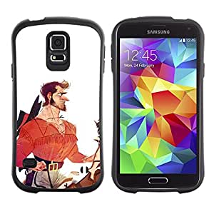 Paccase / Suave TPU GEL Caso Carcasa de Protección Funda para - Hero Horseman Cowboy White Red - Samsung Galaxy S5 SM-G900