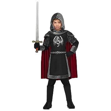 WIDMANN Disfraz de Caballero Medieval Oscuro Infantil T-4/5 ...