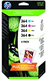 HP HPJ3M82AE 364 Original Ink Cartridges Combination Pack - Mulit-pack (Black, Yellow, Magenta, Cyan), Pack of 4
