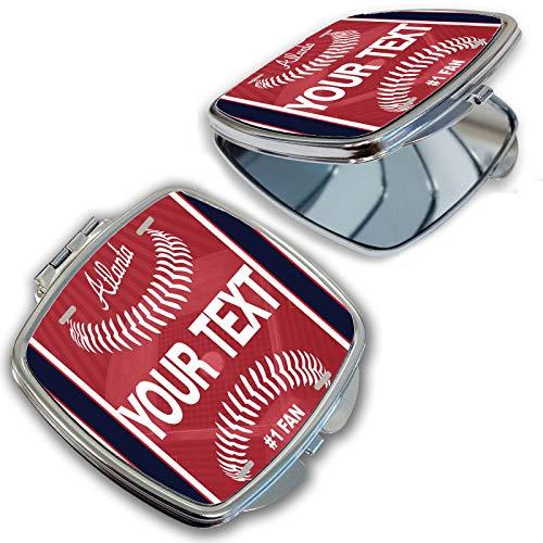BRGiftShop Customize Your Own Baseball Team Atlanta Compact Pocket Cosmetic -