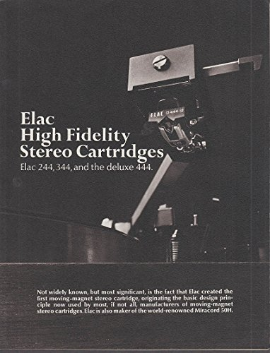 Elac High Fidelity Stereo Cartridges sales folder 1960s