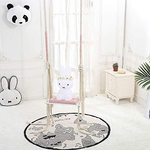 ブランコ 子供たちは屋内庭に適して調節可能なロープでの幼児のスイングシートスイング ジャングルジム・ブランコ (色 : Pink, Size : 54x20x2CM)