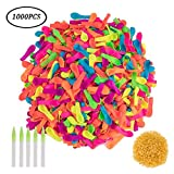 Simuer Water Balloons Quick Refill Kits, 1000pcs Water Bombs Balloons Bulk Fight Games Sports Summer Splash Fun for Kids & Adults