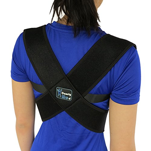 ComfyMed-Posture-Corrector-Clavicle-Support-Brace-CM-PB16-Medical-Device-to-Improve-Bad-Posture-Thoracic-Kyphosis-Shoulder-Alignment-Upper-Back-Pain-Relief-for-Men-and-Women