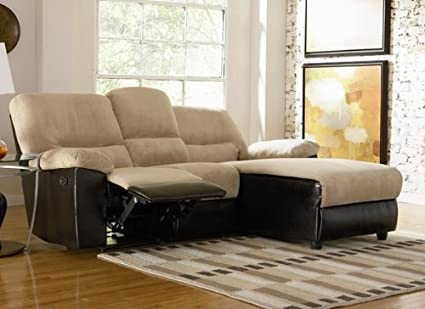 Amazon.com: L-Shape Reclining Sectional Sofa with Flip Down Cup ...