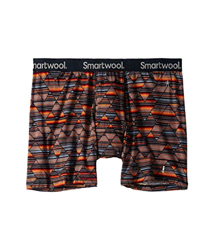 SmartWool Men's Merino 150 Print Boxer Brief Black - Mens Boxer Print