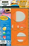 Shape Template Set 8.5x11 3/Pkg-Circles, Ovals & Rectangles