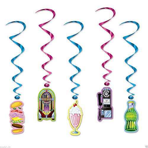1950s 50s Sock Hop Grease Party Decoration Hanging